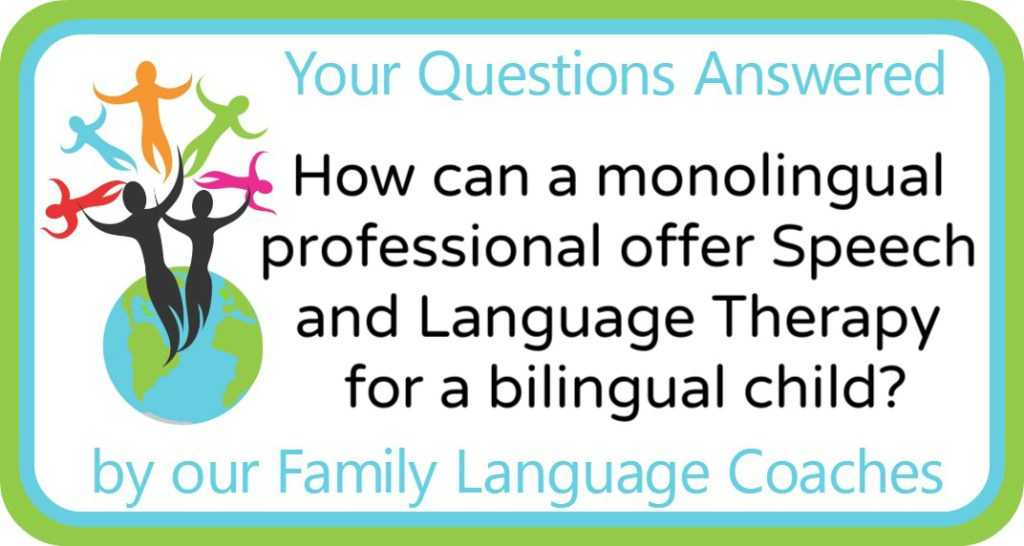 How can a monolingual professional offer Speech and Language Therapy for a bilingual child?