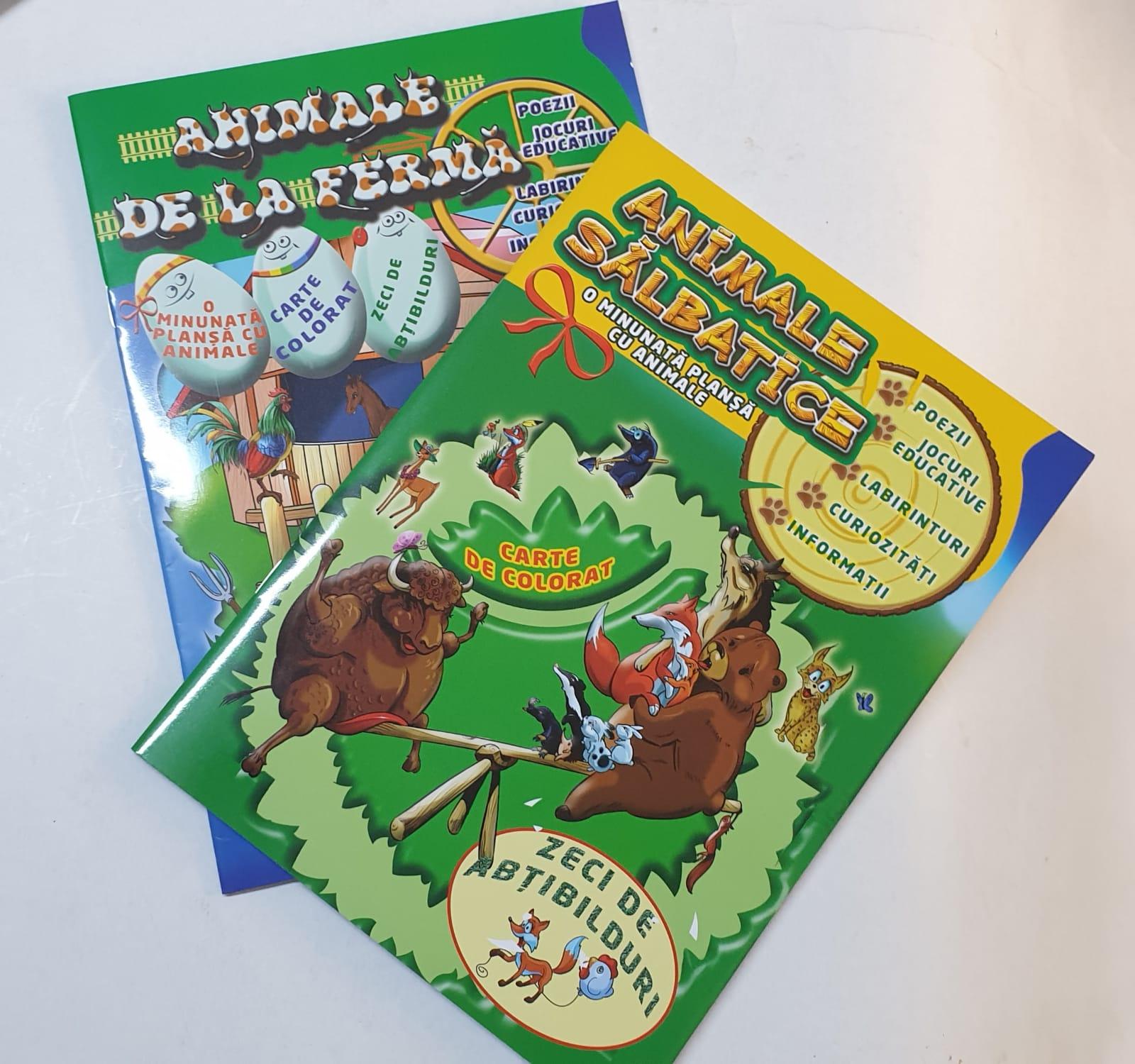 Omnibooks Carte De Colorat Animale