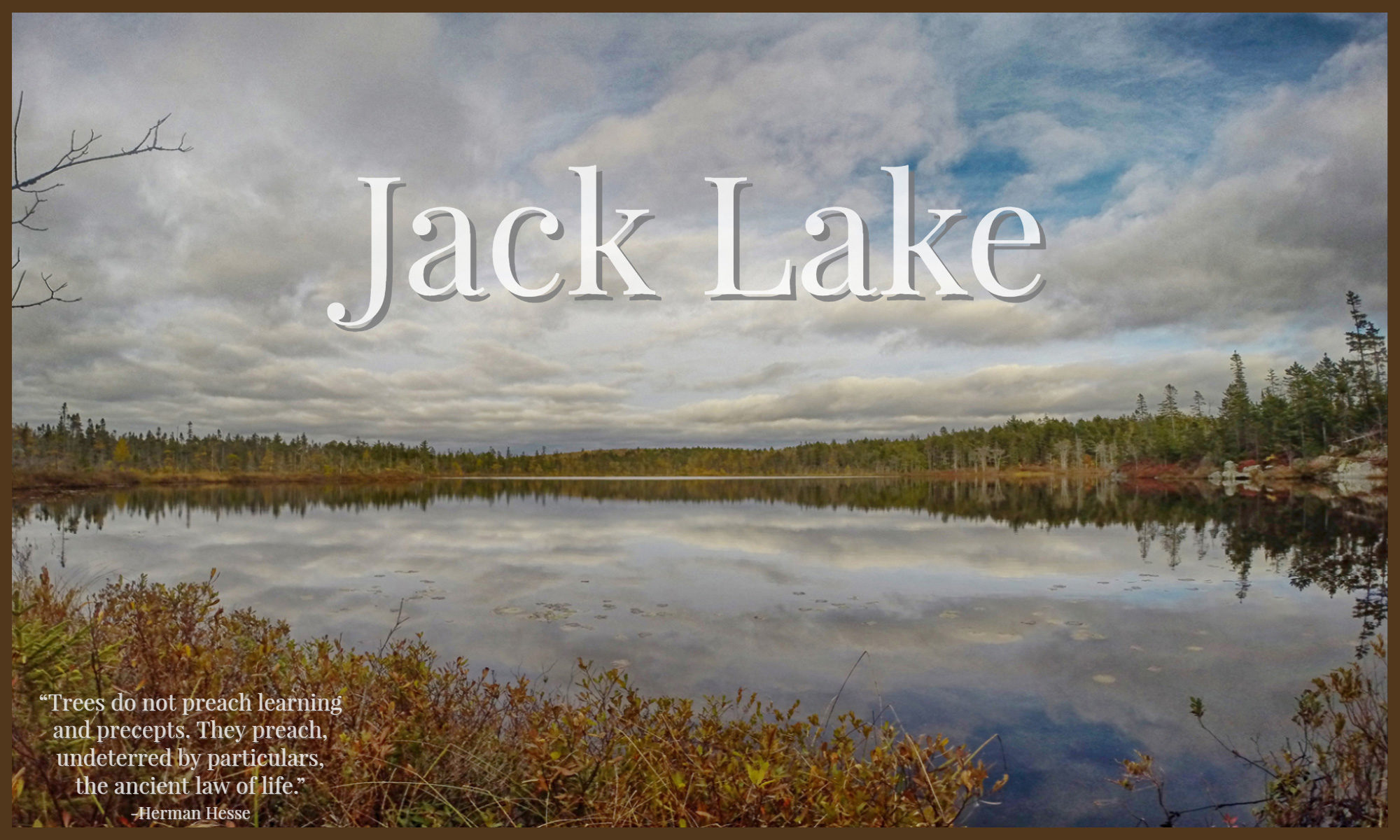 Jack Lake Hiking Trail Bedford - Halifax, Nova Scotia