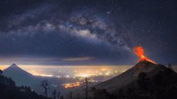 Volcán de Fuego en Guatemala. Foto: EFE.