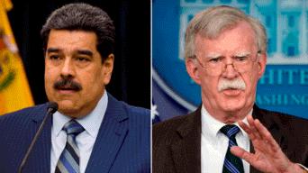 Nicolás Maduro y John Bolton