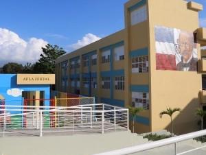 La escuela primaria Socorro Sánchez, inaugurada por el presidente Danilo Medina, en Los Alcarrizos.