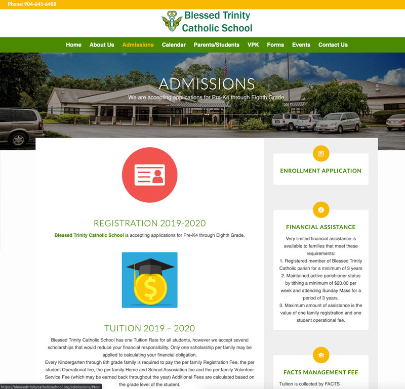 Blessed Trinity Catholic School Website