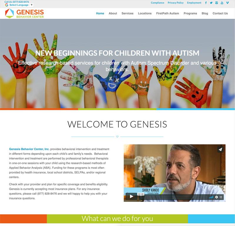 Genesis Behavior Center Website