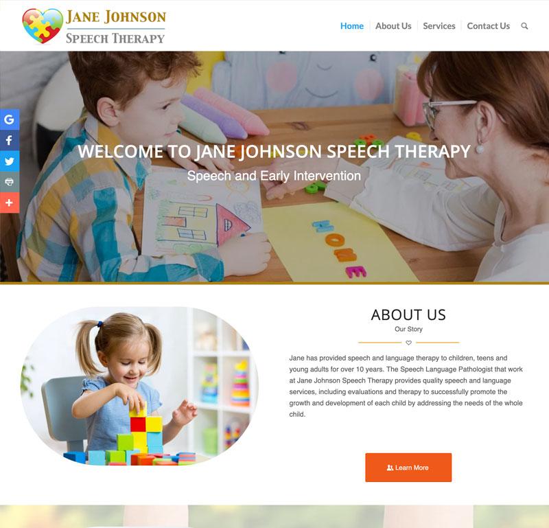 Jane Johnson Speech Therapy Website