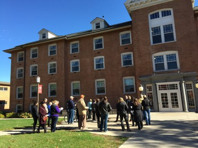 Lawrence Hall, oldest structure on campus, named after former SCSU president Isabel Lawrence. Photo by Jannet Walsh