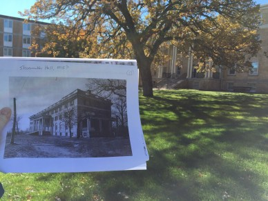 Built in 1915 and remodeled in 1960, Shoemaker Hall is named for Waite A. Shoemaker, president, 1902-1916. Photo by Jannet Walsh