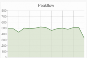 Peak flow indication