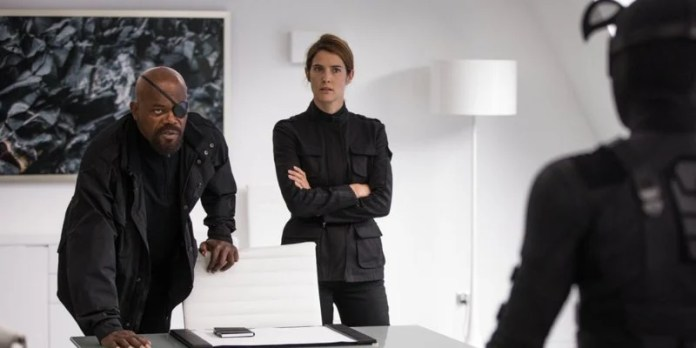 Nick Fury And Maria Hill In Spider Man Far From Home
