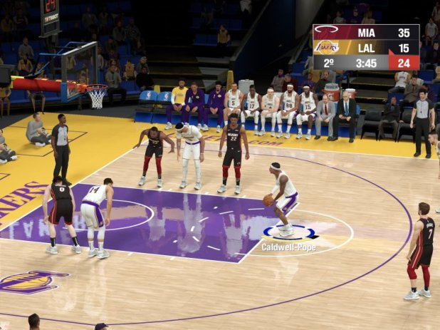NBA 2K21 Arcade Edition on the graphic plane only sacrifices the resolution of reflections on the parquet.