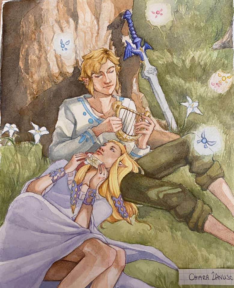 The runner-up in The Legend of Zelda: Skyward Sword HD Graphic Contest