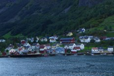 Small village on the side of the Naerofjord