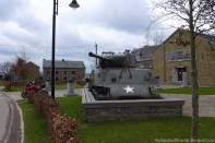 American Tank from WWII turned into memorial