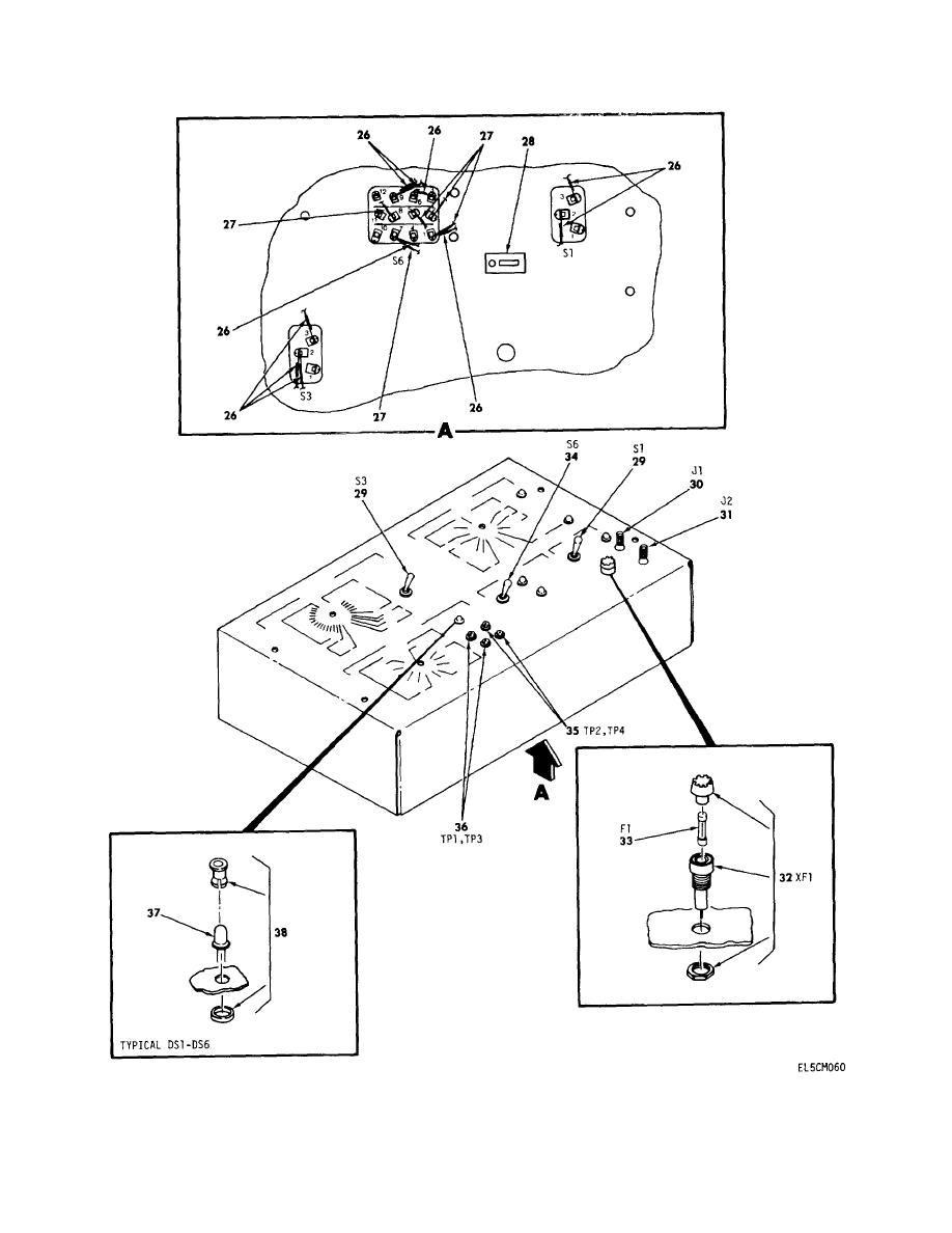 Figure 24D. Remote Access Unit Breakout Box Assembly MX
