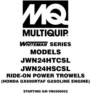 JWN24HTCSL Ops Manual (Serial Number VB0206952 and later