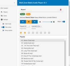 Multi Zone Matrix Audio Player