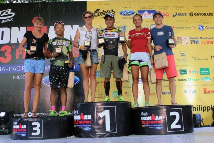 Lezette Albarote Ironman Podium