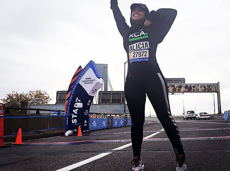 alicia keys celebrity marathoner
