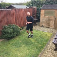 British athlete runs marathon in garden, raises funds for COVID-19 patients