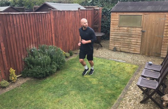 British athlete runs marathon in garden, raises funds for COVID-19…