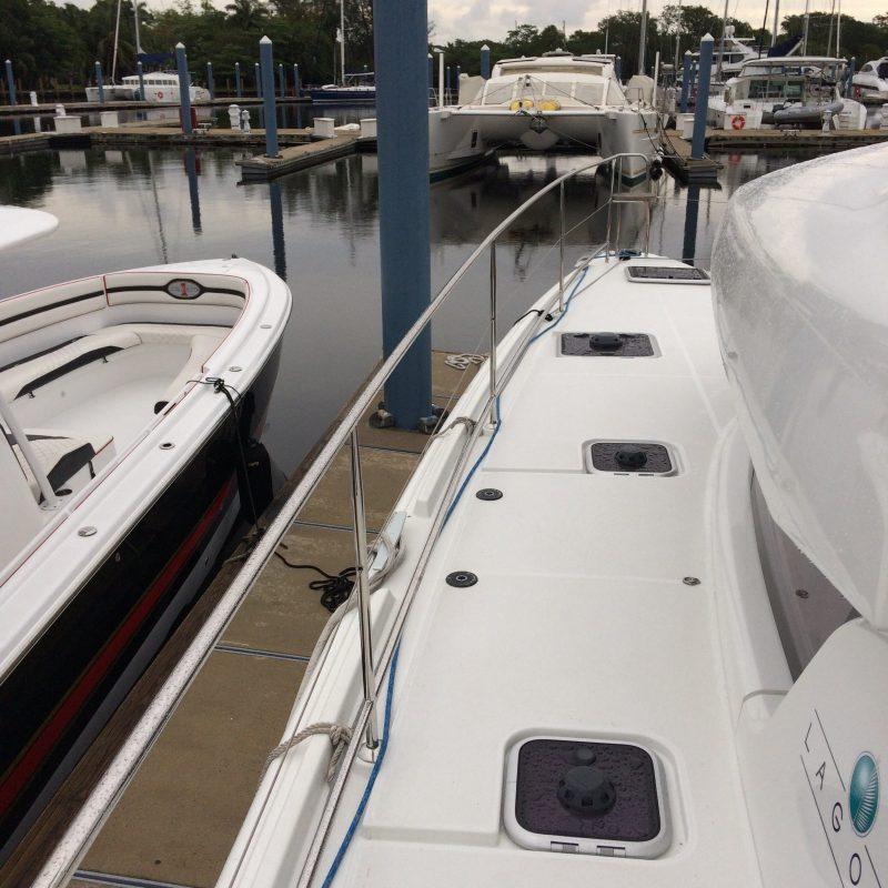 Custom Stainless Handrails for Catamaran installed by Multitech Marine