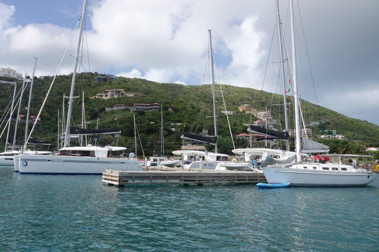 Lagoon Catamarans Docked at Tortola British Virgin Islands