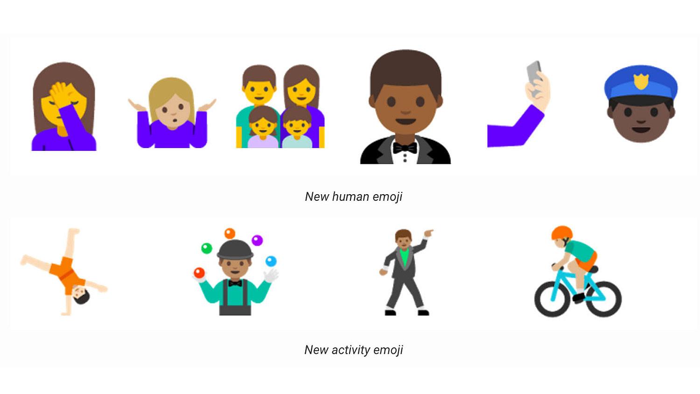 android nougat 7.0 emojis