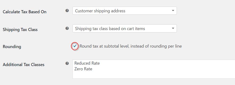 Round tax