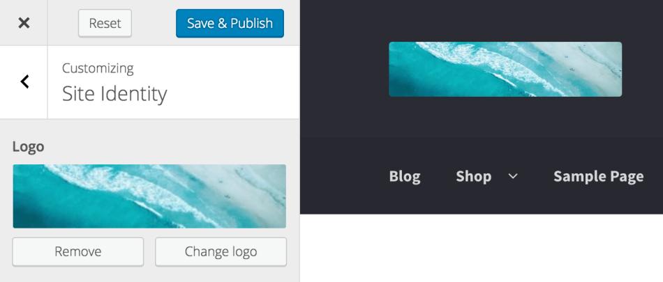 Remove or change logo