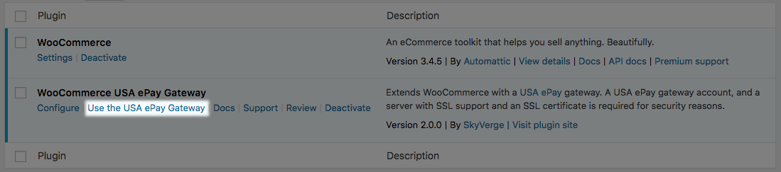 How To Install and Configure USA ePay in WooCommerce