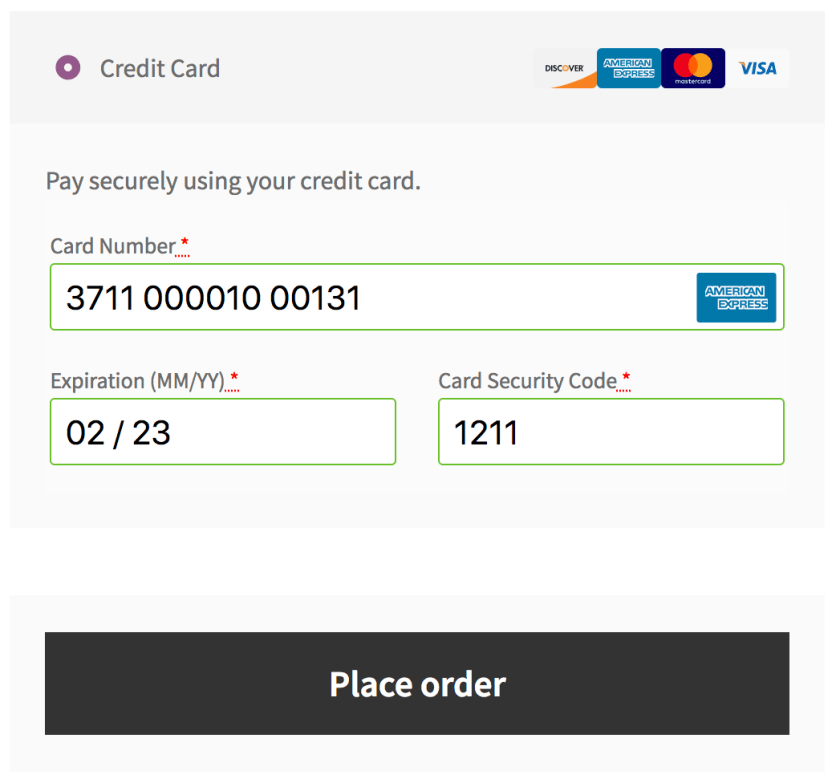 WooCommerce USA ePay payment form