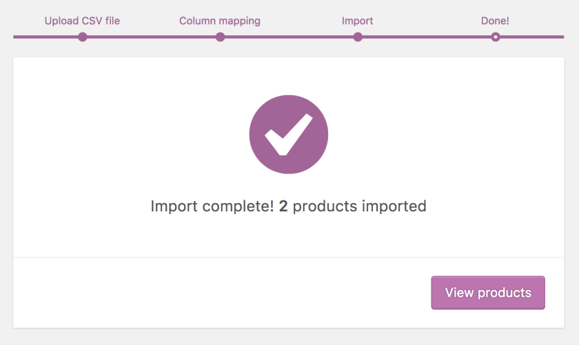import complete