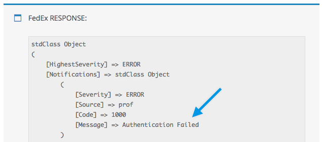 Fedex sample API