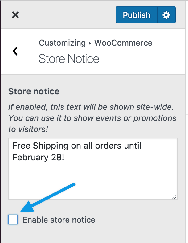 Store Notice promotion disable
