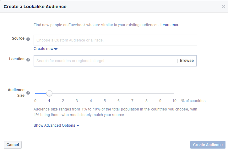 Facebook Lookalike tools
