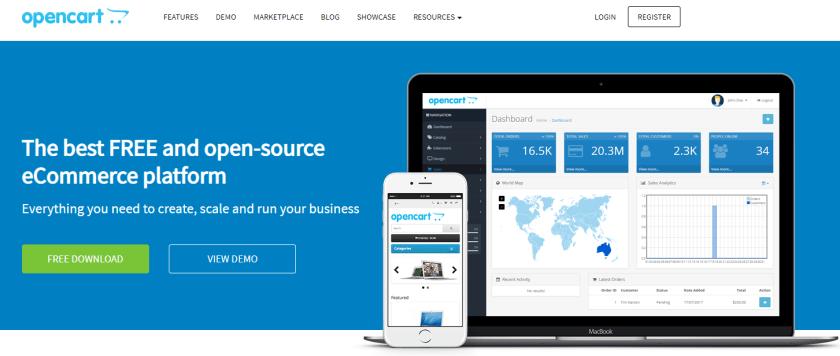 Open Cart open source eCommerce Platform
