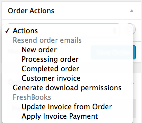 WooCommerce FreshBooks Update Invoice From Order