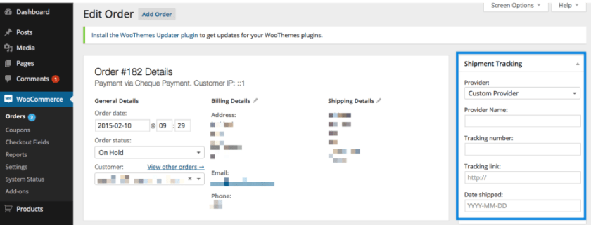 WooCommerce Shipment Tracking Overview