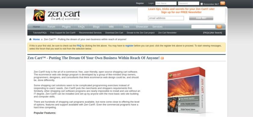 Zen cart open source eCommerce Platform
