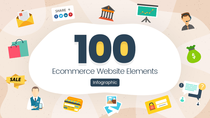 100 Ecommerce Website Elements Infographic