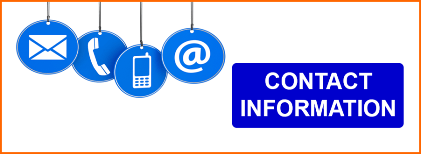 Conclude with Contact Information