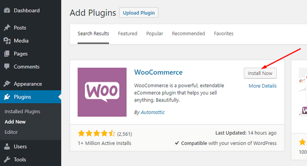 Install WooCommerce for rental marketplace