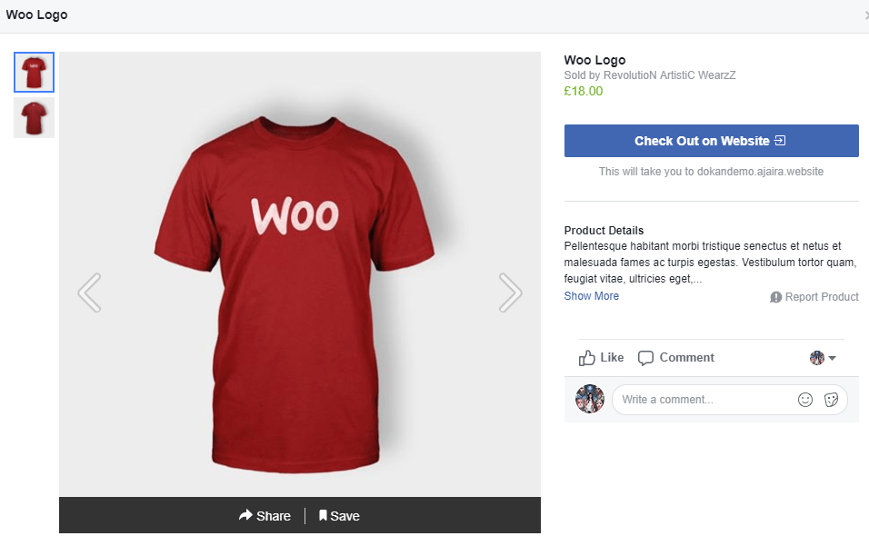 Facebook for WooCommerce Checkout