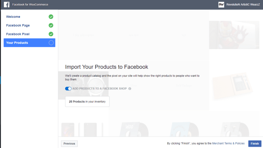 Facebook for WooCommerce product page