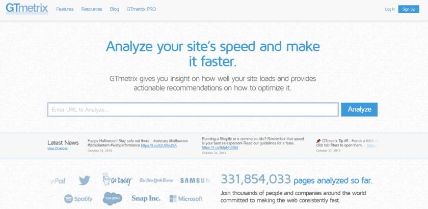 Increase User Engagement Website GTMetrix