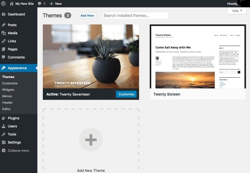 Change Site Theme Multisite