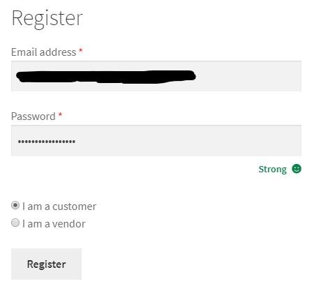 Register as a Customer