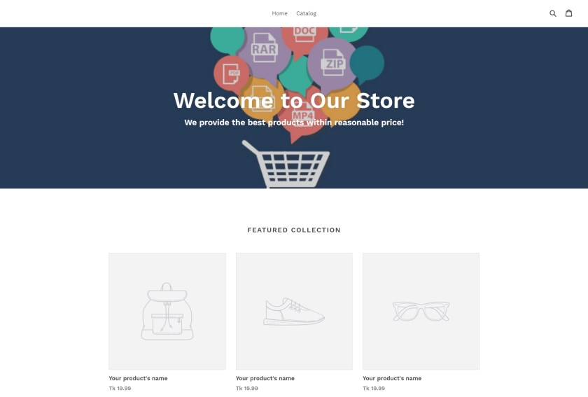Shopify Store Page