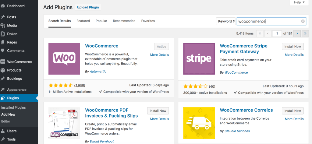WooCommerce Install to Build Online clothing Store Marketplace