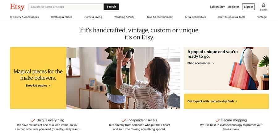 eBay Alternatives: Etsy